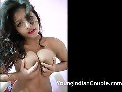 Indian Teen Sarika Makes Porn At Home Teasing Her Desi Fans