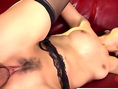 A steamy dp leads to a creamy pussy