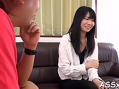 Asian pussy and anal fuck