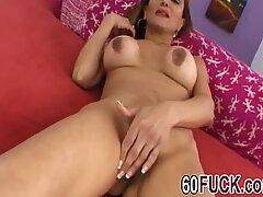 Busty granny Sofia enjoys getting banged by big dick