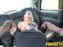 Fake Taxi Mature Milf gets her big pussy lips stretched