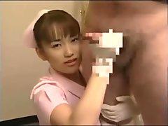 japanese nurse handjob