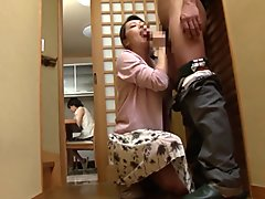 Yumi Kazama stepmom blowjob cum