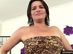elderly super-bitch Michele Marks satiates Herself with Sex Toys