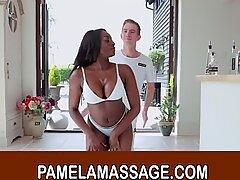 Ebony Pornstar Jai James Enjoys Hot Thai Massage and Fuck