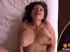 ass fucking porking ample Natural Tits Cougar