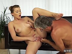 Granny blowjob xxx Sex with her boyfriend    s father after swimming pool