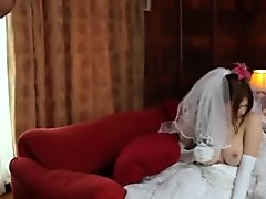 Pretty Busty Wife Momoka Nishina in Wedding Dress