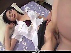 Ruri Okino utter 3some porn play in stiff modes