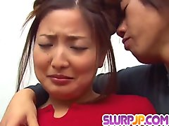 Katsumi Matsumura endures heavy cock to blast her snatch  - More at Slurpjp.com