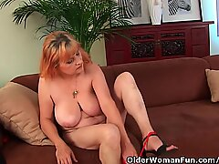 Hairy Grandma With Big Tits Has Solo Sex With A Vibrator