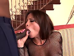 Jayna Oso and Lana Croft fuck hung black guy