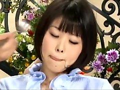 Japanese News Reader Swallow All Cum