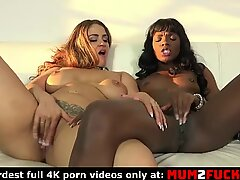 Sexy chubby milf and horny ebony lady in hot lesbian fuck (Ana Foxxx and Miss Raquel)