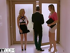 TUSHY Blair Williams Has A super hot ass-fuck Lesson Threesome With Her chief